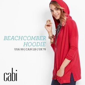 CAbi Beachcomber Hoodie Red Zip Cardigan Sweater